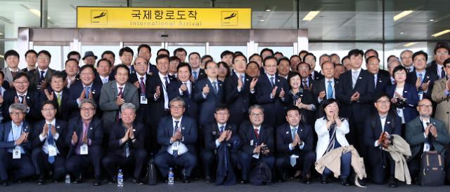 韩国代表团抵达平壤 将出席《10·4宣言》11周年纪念仪式