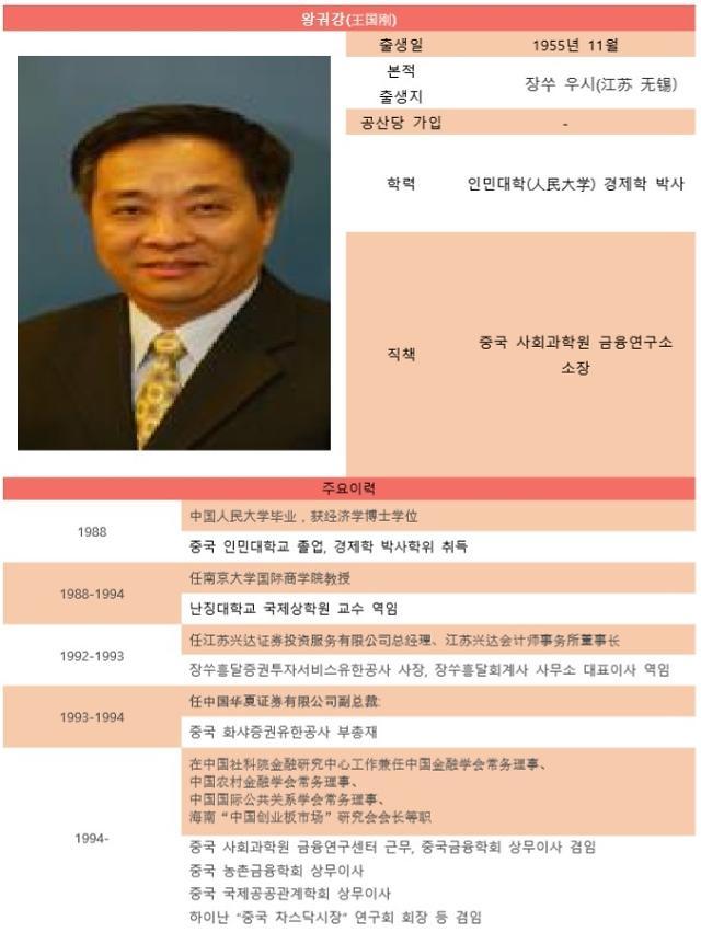[시진핑시대 금융엘리트 120인] ㉑ 中 싱크탱크 중국사회과학원 금융연구소