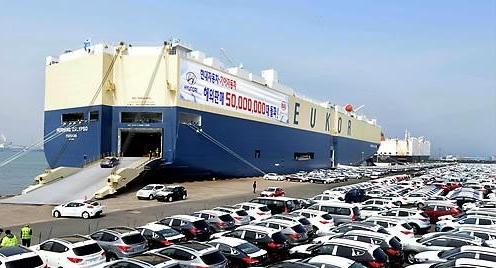 韩产汽车出口萎靡 主要地区市场占有率持续不振