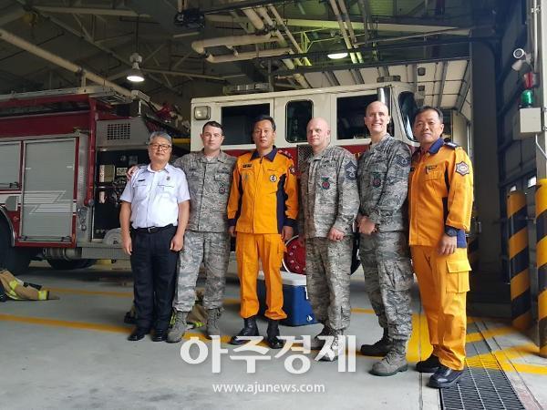 경기도 소방 미공군 오산기지 소방서 방문