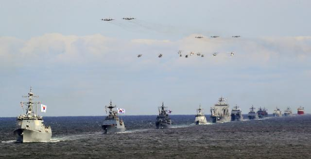 제주관함식 백미 해상사열, 39척 국내외 함정 출동