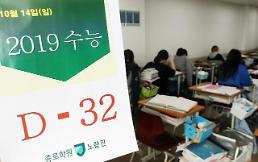 .韩国高考倒计时一个月.