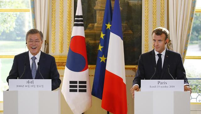 文在寅访问法国 呼吁有条件地放松对朝制裁