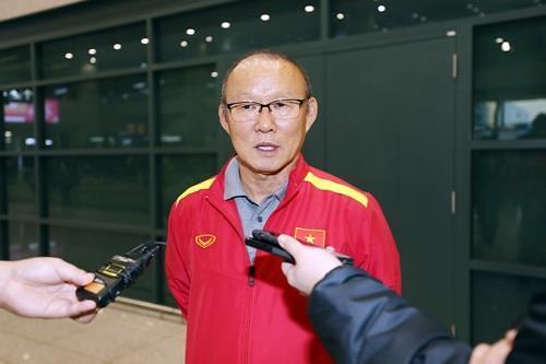 越南国足韩籍主帅朴恒绪率队访韩
