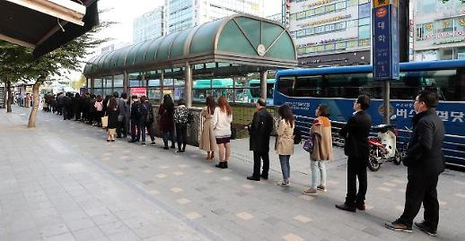 [포토] 택시 파업 버스 긴줄