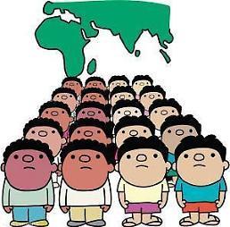 .韩国人口总数5120万人 世界排名第27位.