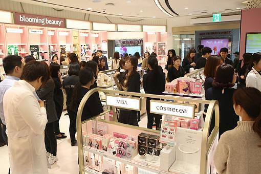 快来剁手!乐天免税店总店开设韩国最大综合美妆卖场