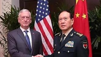 싱가포르서 90분 회동한 미·중 국방장관 '무슨 얘기 나눴나'