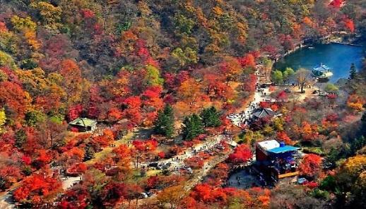Các ngọn núi nổi tiếng ở Hàn Quốc tấp nập du khách vào mùa lá vàng