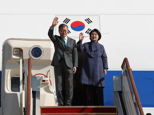 文在寅结束欧洲巡访返回韩国