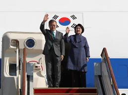 .文在寅结束欧洲巡访返回韩国.