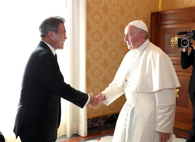 文在寅结束欧洲五国行 斡旋教皇访朝公开呼吁放松对朝制裁
