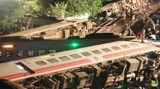 [포토] 대형 열차 탈선사고