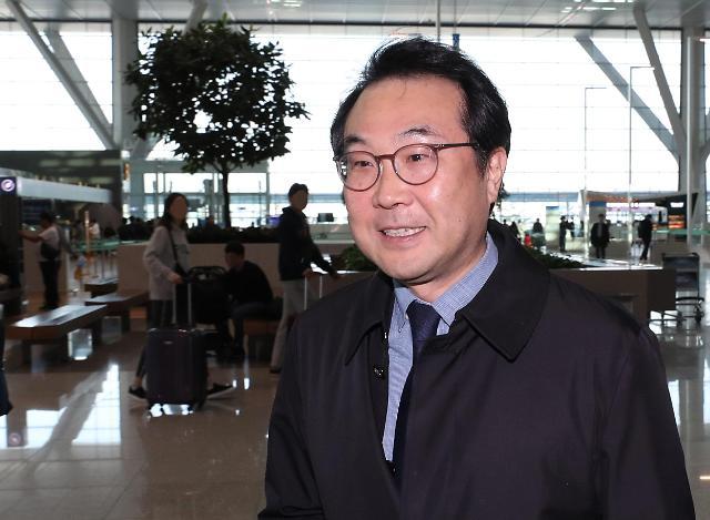 朝核六方会谈韩方团长李度勋启程赴美