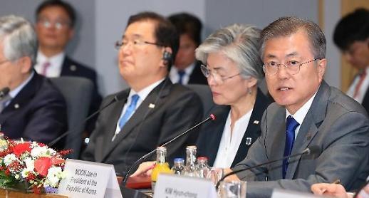 文, 유럽순방서 대북제재 완화 첫 공론화