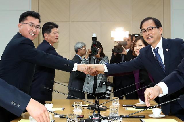 韩朝代表团接连开会讨论山林合作项目