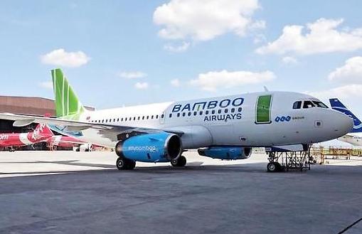 chiếc máy bay Airbus khoác áo thương hiệu Bamboo Airways