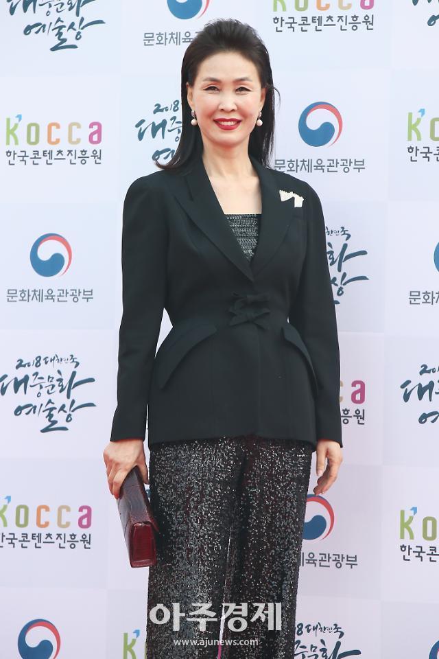 [포토] 레드카펫 밟는 김동수 동덕여대 교수 (2018 대한민국 대중문화예술상)