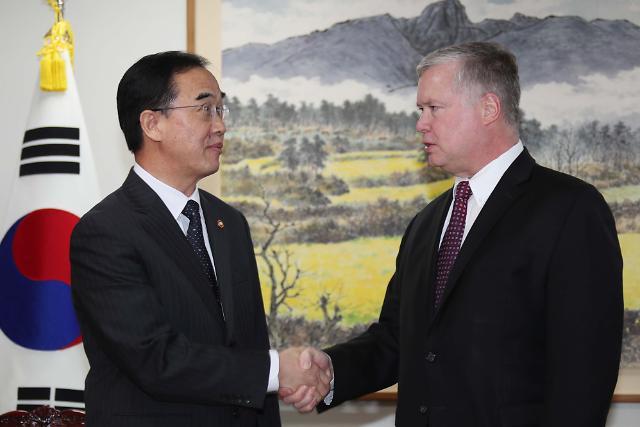 韩统一部长官会见美对朝政策代表  商议统一韩朝、韩美关系发展步调
