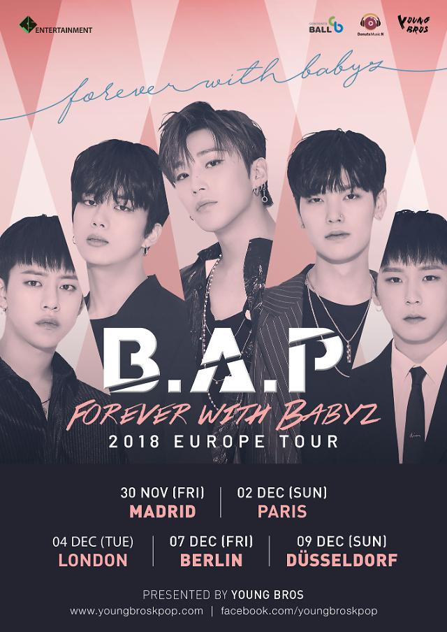 B.A.P, 북미 이어 유럽 투어 'FOREVER WITH BABYZ' 개최···5개 도시 순회