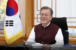 President Moon voices gratitude for special gift from Indian premier