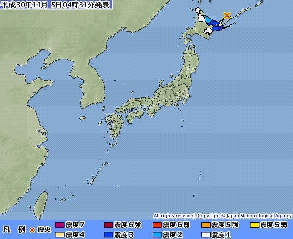 """홋카이도 규모 5.9 지진 발생...""""쓰나미 우려 없어"""""""