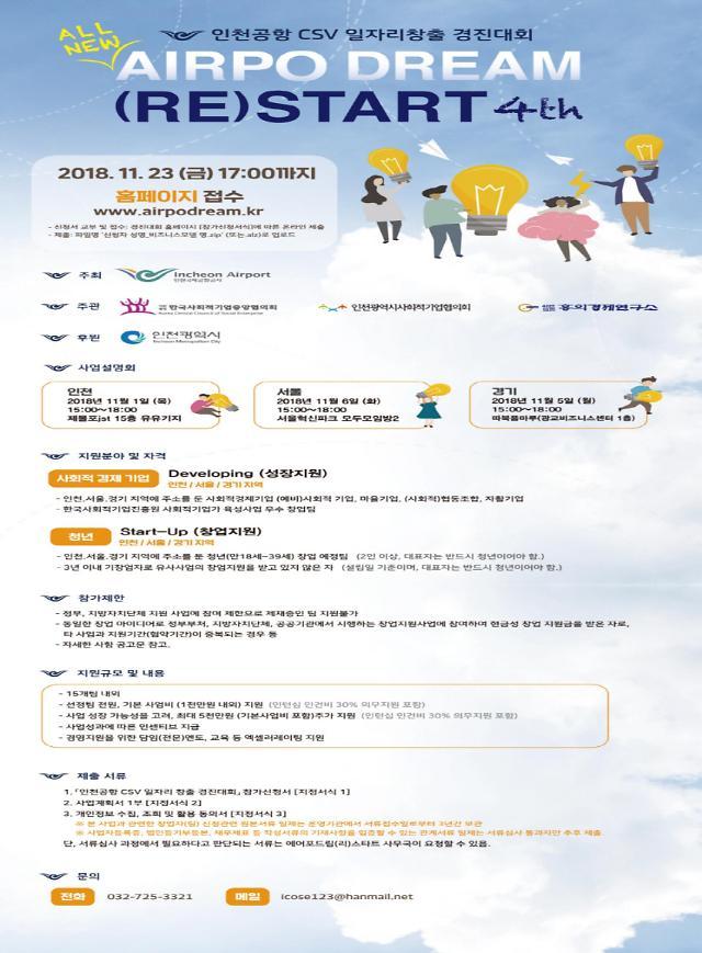 인천국제공항공사,2018년  CSV 일자리창출 경진대회 개최