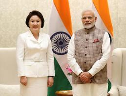 .韩第一夫人单独访印会见印度总理莫迪.