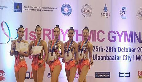 세종대 리듬체조 선수단, 2018 아시안컵 단체전 동메달 획득