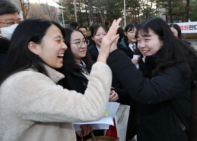 韩2019学年高考今开考 59.5万人应考