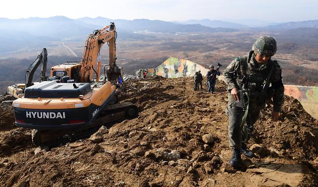 非军事区哨所拆除现场