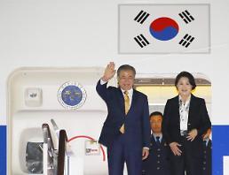 .文在寅结束APEC与东盟系列峰会行程返回韩国.