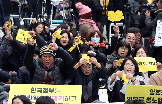 韩解散慰安妇问题基金会 韩日慰安妇协议成一纸空文