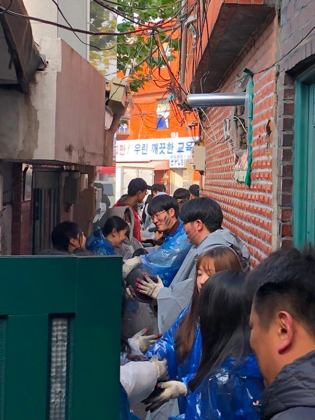 삼육보건대, 연말 맞아 연탄·김치 나눔 온정의 손길