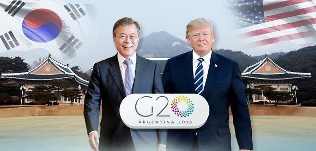 韩美将在G20峰会期间举行首脑会谈