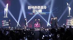 .韩观光公社向李炳宪和BTS颁发感谢牌.