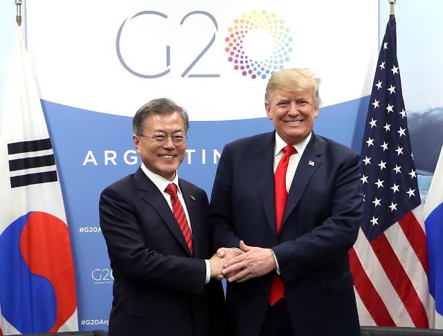 韩美首脑在阿根廷举行会谈 共商无核化事宜