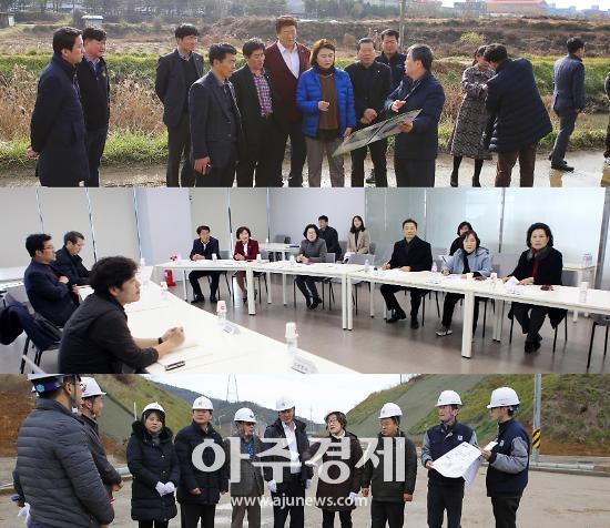 안산시의회 3개 상임委, 정례회 기간 중 현장활동 펼쳐
