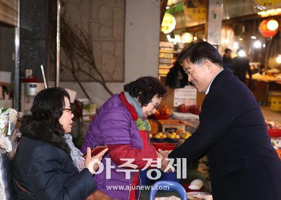 [포토] 동절기 화재 취약지 광명전통시장 찾은 박승원 광명시장