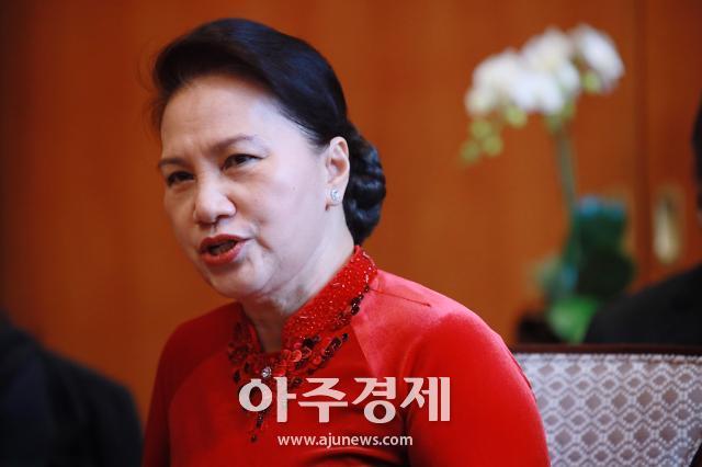 [포토] 한국 방문한 응웬 티 킴 응언 베트남 국회의장