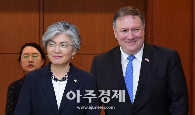 康장관·폼페이오, 北 비핵화 협력 재확인