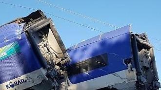 [포토] 서울행 KTX 열차 탈선