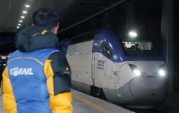 .江陵线KTX列车恢复正常运行.