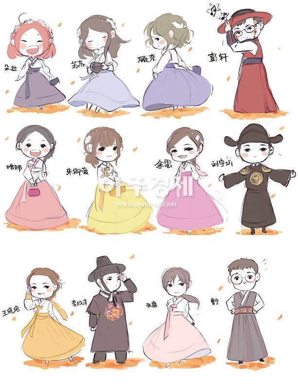 [서울은 지금 크리에이터中] 만화가 샤Dora(夏Dora)의 초청 크리에이터 한복 스케치
