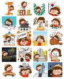 .[首尔正在创作中] 卡通形象设计师 哈娜 I.SEOUL.U表情符号.