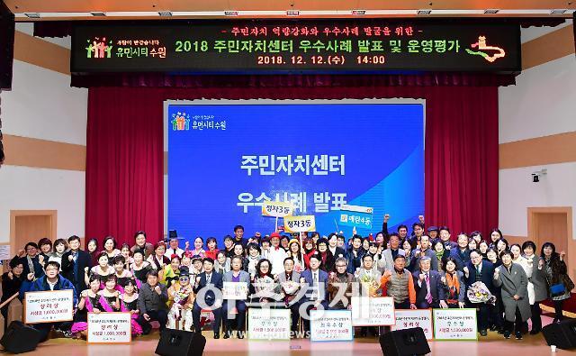 수원 매탄4동, 2018 수원시 주민자치센터 평가 최우수상