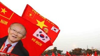 [포토] 박항서 깃발 흔들며