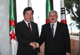 .韩-阿尔及利亚总理会晤.