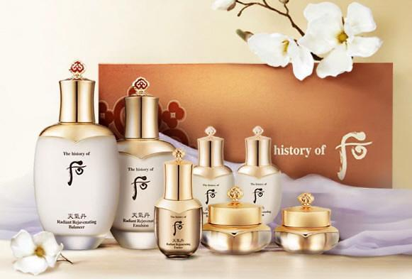 韩国化妆品对华出口好转  高档韩妆品牌人气高