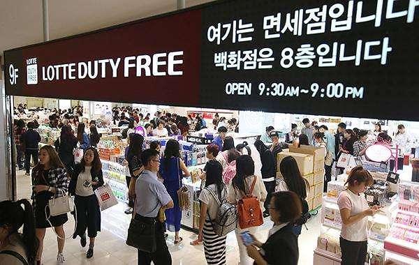 韩国免税店连续4月接待超150万人次外国游客